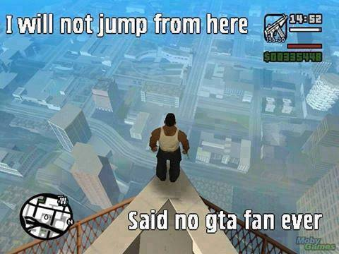 I will not jump from here