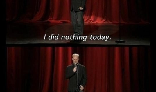 I did nothing today