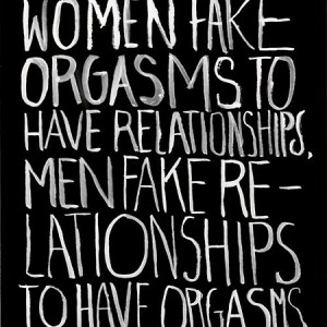 Men women relationships fake