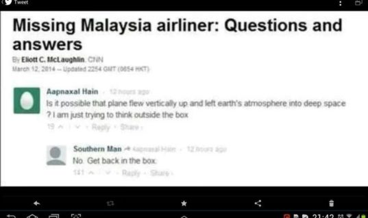 Missing Malaysian Airlines