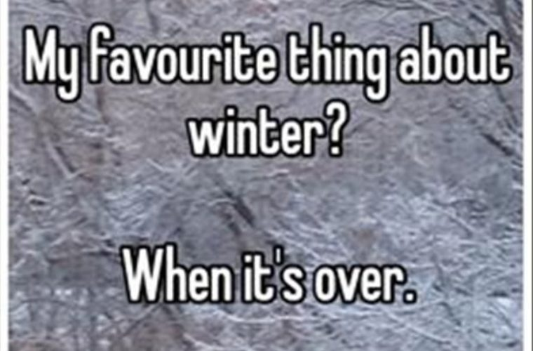 My favorite thing about winter?