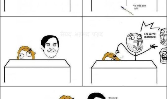 Playing prank on girls in class
