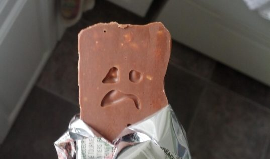 Sad chocolate bar