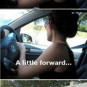 When a woman drives