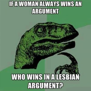 Women win arguments