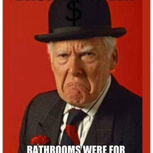 Bathrooms Back in my day
