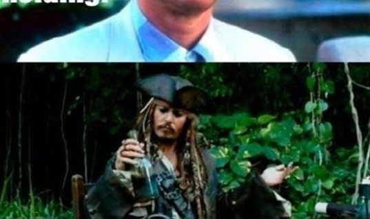 Captain Jack Sparrow and Forrest Gump