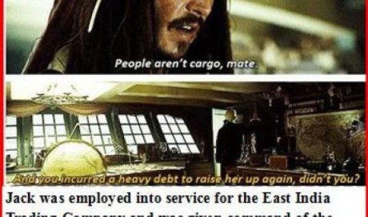 Jack Sparrow and Cutler Beckett backstory