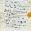 Kid's message to toothfairy