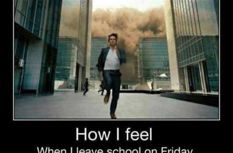 Leaving Work On Friday Meme Funny : Leaving school on friday funny pictures quotes memes funny