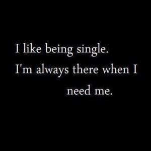 Like being single