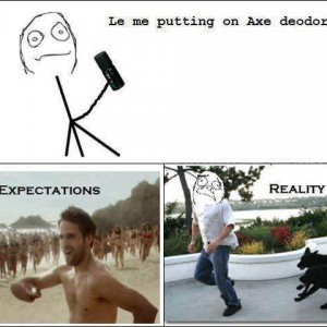 Me putting on Axe Deo