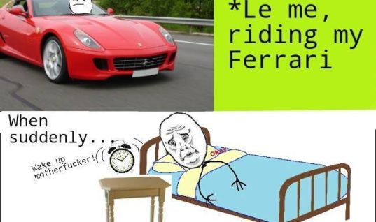 Me riding my Ferrari