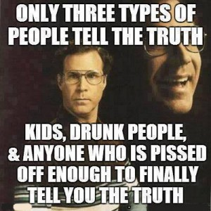 Only 3 people say truth