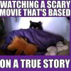 Watching scary movie