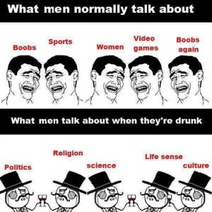 What Men normally talk about