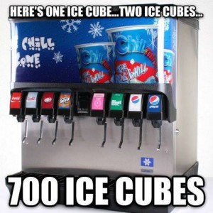 At Ice Cube Dispensor