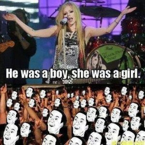 Avril says 'was'