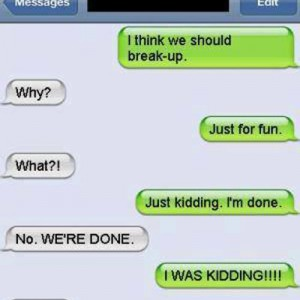 Breaking up like a boss