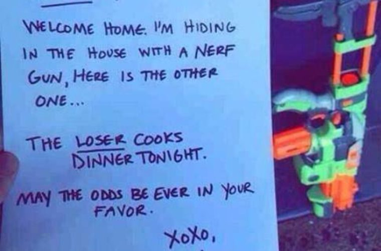 Epic Note from wife