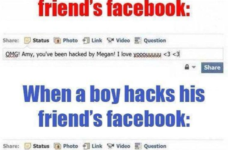 Hacked Facebook of friend