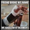 Open Beer with broken hands