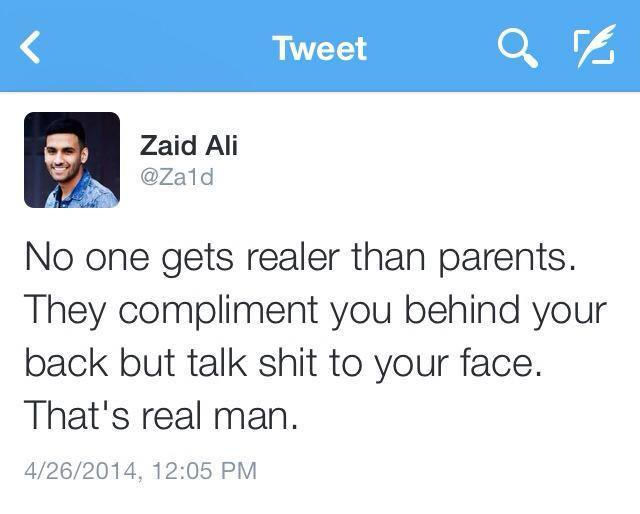 Parents are Reality
