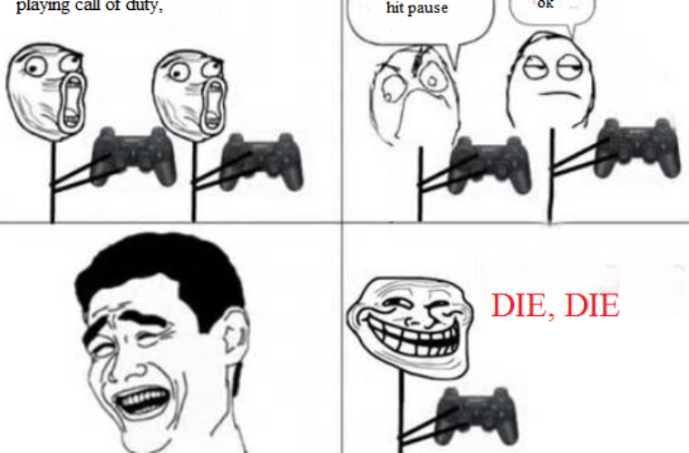 Playing Call of Duty
