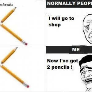 When a Pencil Breaks
