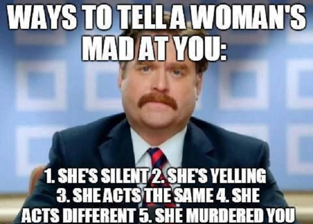 Woman's Mad At You