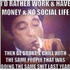Work and Have money until..