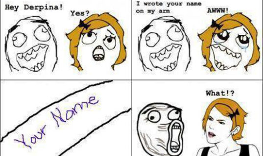 Wrote your name on arms
