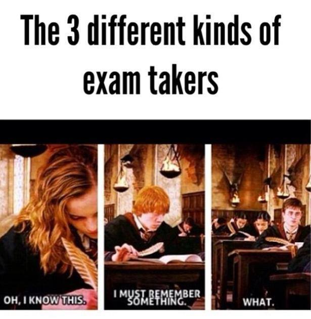 3 Different kinds on Exam takers