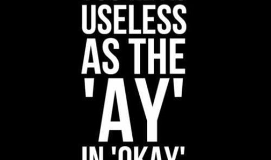 As Useless