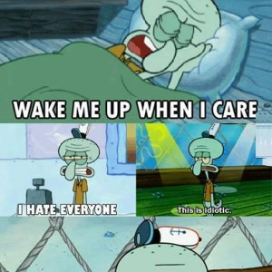 Became a Squidward