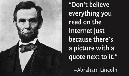 Don't believe everything on the internet!