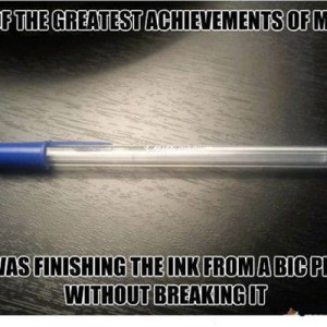 Finishing a Bic Pen