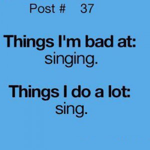I can't Sing