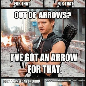 I've got an arrow for that