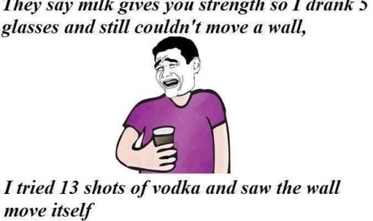 Milk gives you strength