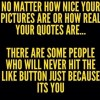No matter how nice your status is