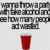 Party with fake alcohol