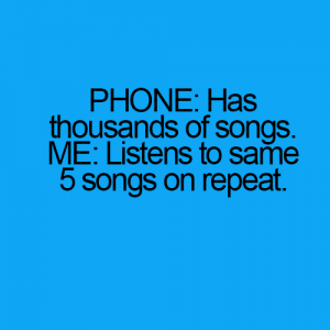 Phone might have thousands songs but..