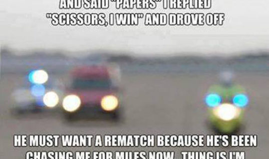 Policeman asked for papers