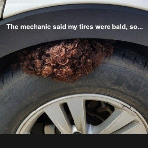 Tires were Bald