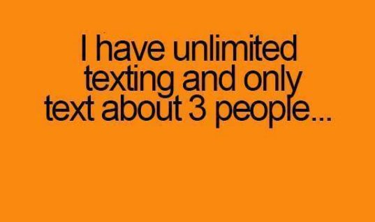 Unlimited Texting but..