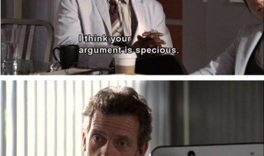 Your argument is specious