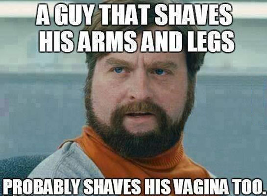 A guy that shaves..