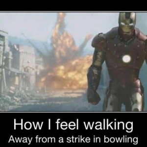 After a strike in Bowling