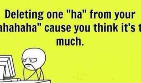 Deleting one 'Ha'